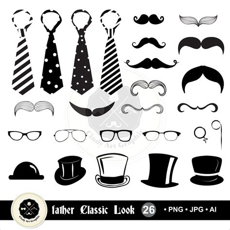 fathers day clip art vintage jpg 1500x1500